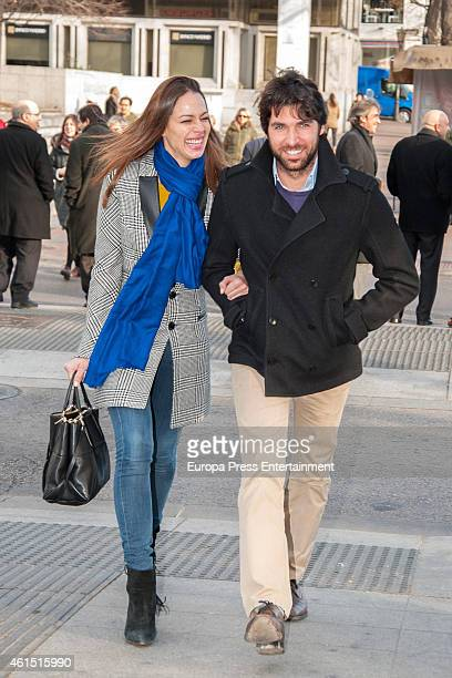 Bullfighter Cayetano Rivera and model Eva Gonzalez are seen on January 13 2015 in Madrid Spain