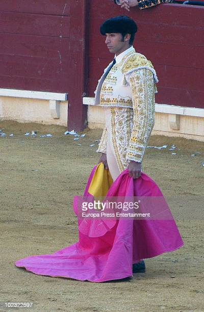 Bullfighter Cayetano Rivera performs during a bullfight at Alicante Bullring on June 23 2010 in Alicante Spain
