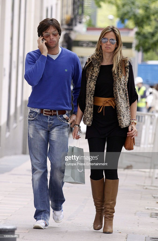 Bullfighter Jose Antonio Canales and Mari Carmen Fernandez sighting on May 20, 2010 in Madrid, Spain.