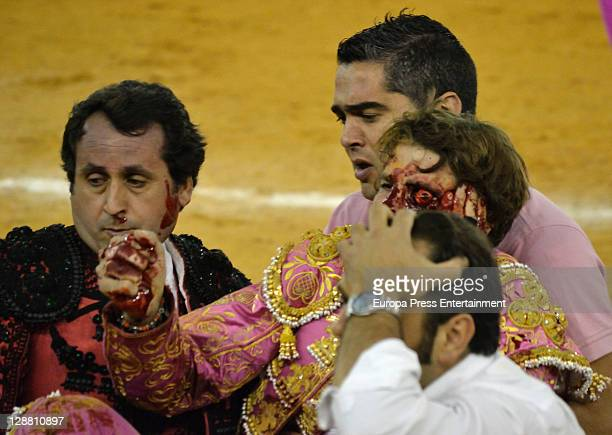 Bullfighter Juan Jose Padilla is blinded in one eye after being gored in his face during a bullfight at La Misericordia Bullring on October 7 2011 in...