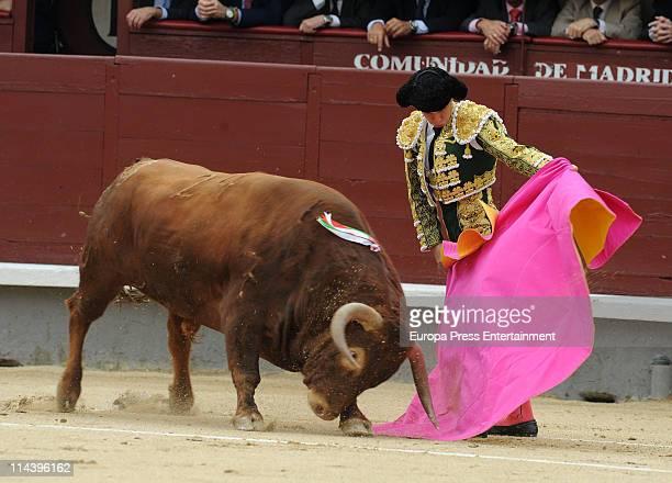 Bullfighter Julian Lopez 'El Juli' during the bullfighting at Plaza de Toros de Las Ventas on May 18 2011 in Madrid Spain
