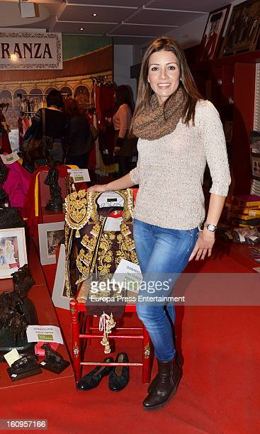 Bullfighter Manuel Diaz El Cordobes's wife Virginia Troconis attends the opening of 'Rastrillo Nuevo Futuro' at Los Lebreros Melia Hotel on February...