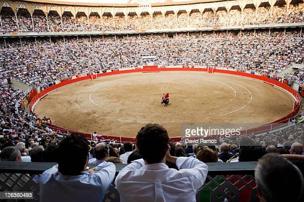 Bullfighter Serafin Marin performs during the last bullfight at the La Monumental on September 25 2011 in Barcelona SpainTop matadors including Jose...