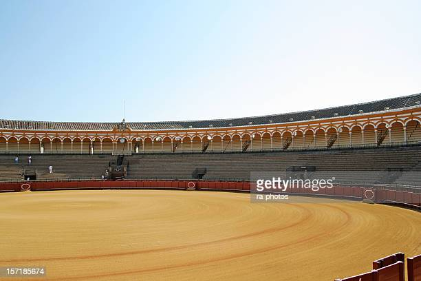 bullfighting arena seville - bullfight stock pictures, royalty-free photos & images