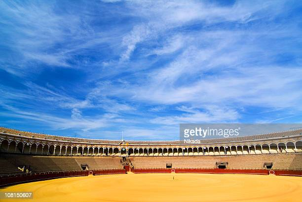 bullfighting arena with blue sky - bullfight stock pictures, royalty-free photos & images