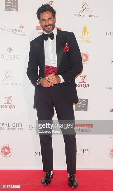 Bullfigther Oscar Higares attends the Global Gift Gala photocall at Madrid Townhall on April 2 2016 in Madrid Spain