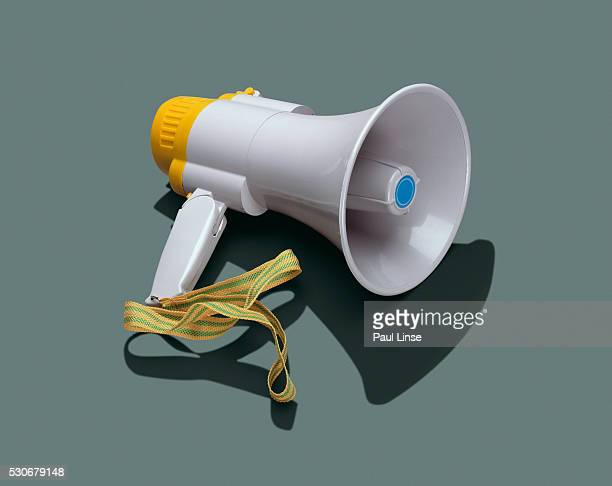 bullhorn - megaphone stock pictures, royalty-free photos & images