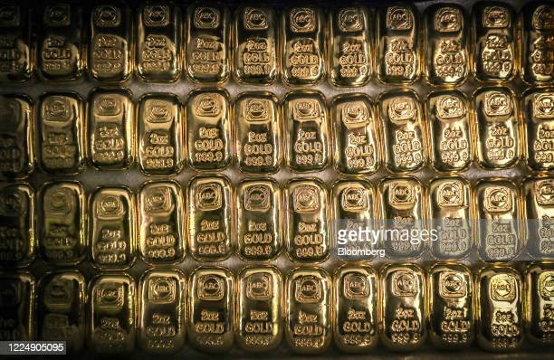 ABC Bullion two ounce gold bars are displayed at the ABC Refinery smelter in Sydney New South Wales Australia on Thursday July 2 2020 Western...