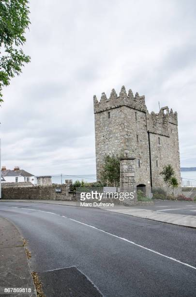 bullock castle in balkey ireland during day of autumn - dalkey stock pictures, royalty-free photos & images