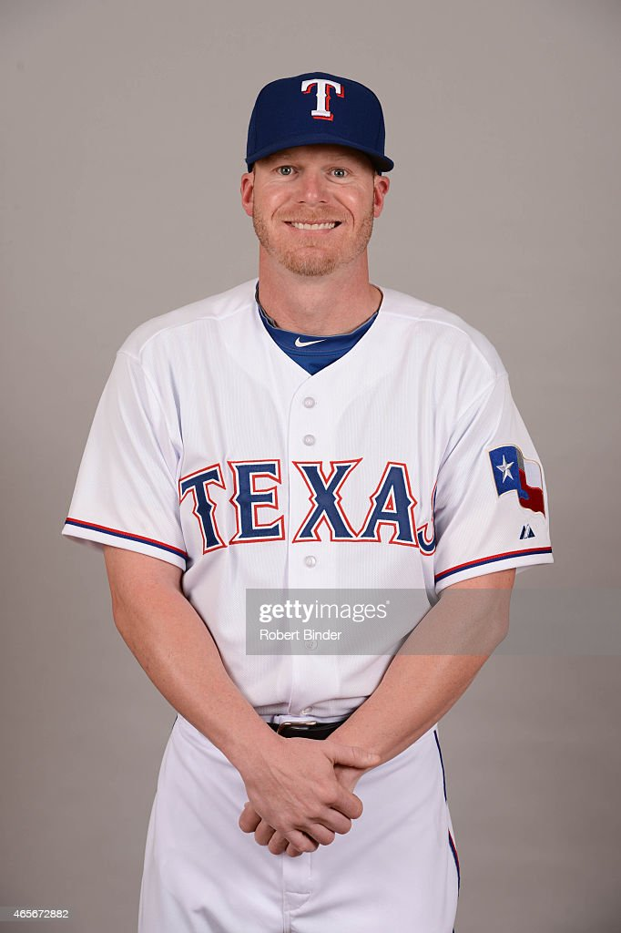 Bullpen catcher Josh Frasier #66 of the Texas Rangers poses during Photo Day on Monday, March 2, 2015 at Surprise Stadium in Surprise, Arizona.