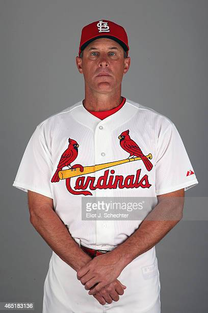 Bullpen Coach Blaise Ilsley of the St Louis Cardinals poses during Photo Day on Monday March 2 2015 at Roger Dean Stadium in Jupiter Florida