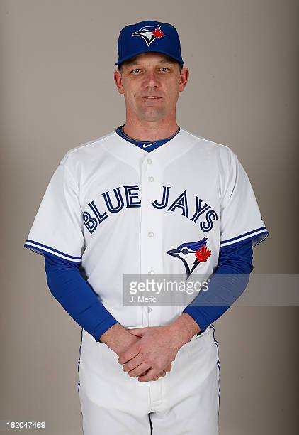 Bullpen coach Pat Hentgen of the Toronto Blue Jays poses for a photo during photo day at Florida Auto Exchange Stadium on February 18 2013 in Dunedin...