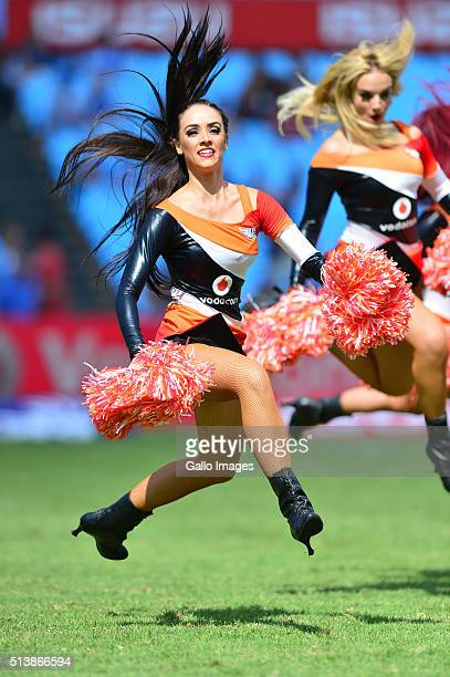 Bulls cheerleaders during the 2016 Super Rugby match between Vodacom Bulls and Rebels at Loftus Versfeld on March 05 2016 in Pretoria South Africa