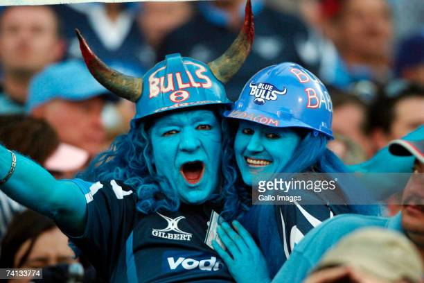 Bulls fans during the Super 14 semifinal match between the Bulls and the Crusaders at Loftus Versfeld Stadium on May 12 2007 in Pretoria South Africa