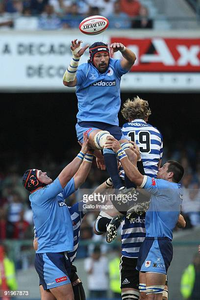 Bulls lock Victor Matfield jumps in the line out during the Absa Currie Cup semi final match between Western Province and Blue Bulls at Newlands...
