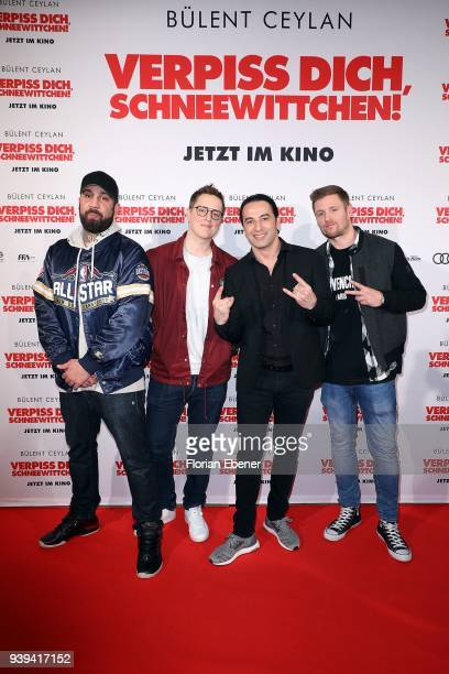 Bullshit TV and Buelent Ceylan attend 'Verpiss Dich Schneewittchen' screening at Cineplex Cologne on March 28 2018 in Cologne Germany