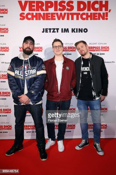 Bullshit TV attend 'Verpiss Dich Schneewittchen' screening at Cineplex Cologne on March 28 2018 in Cologne Germany