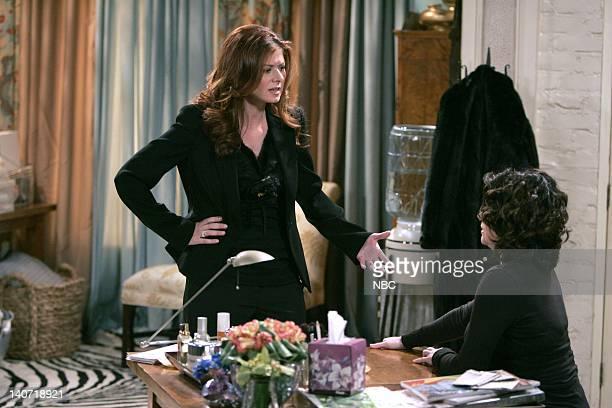 WILL GRACE 'Bully Woolley' Episode 15 Pictured Debra Messing as Grace Adler Megan Mullally as Karen Walker Photo by Chris Haston/NBCU Photo Bank