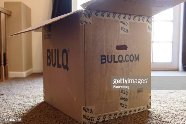 A Bulqcom box sits at the home of a liquidation reseller in Napa California US on Thursday March 14 2019 As overwhelmed retailers search for...