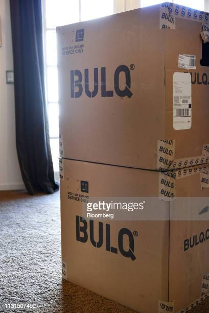 Bulqcom boxes sit stacked at the home of a liquidation reseller in Napa California US on Thursday March 14 2019 As overwhelmed retailers search for...