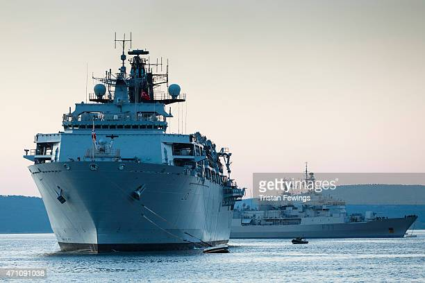 Bulwark is moored off the coast of Gallipoli to take part in commemorations of the Centenary of the Galipoli Campaign and Anzac Day on April 24 2015...