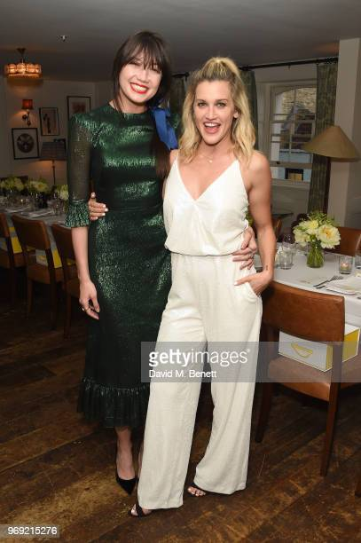 Bumble Ambassador Daisy Lowe and Ashley Roberts attend the launch of Bumble's #BodyConfidante campaign at Soho House on June 7 2018 in London England