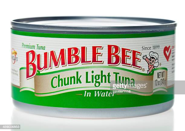 bumble bee tuna can - bumblebee stock pictures, royalty-free photos & images