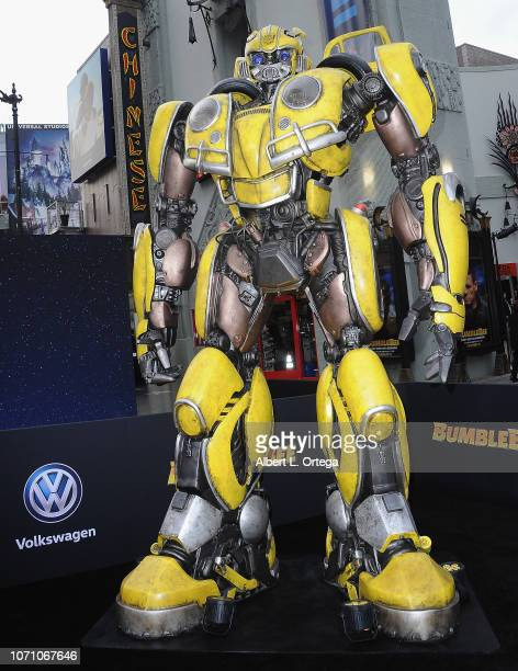 Bumblebee on display at the Premiere Of Paramount Pictures' Bumblebee held at TCL Chinese Theatre on December 9 2018 in Hollywood California