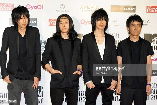 Bump Of Chicken walks on the red carpet of the MTV Video Music Awards Japan 2012 at Makuhari Messe on June 23, 2012 in Chiba, Japan.