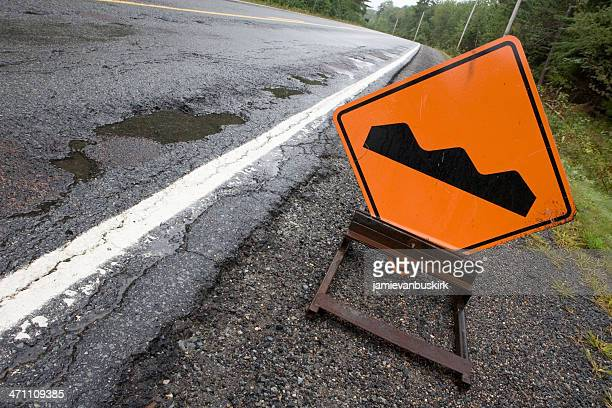 bump sign - bumpy stock photos and pictures