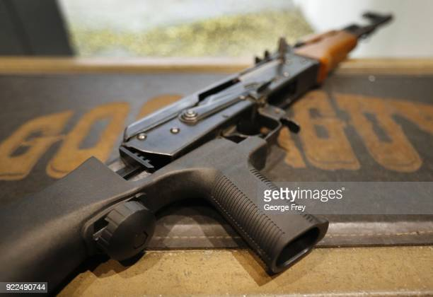 A bump stock is installed on an AK47 at Good Guys Gun and Range on February 21 2018 in Orem Utah The bump stock is a device when installed allows a...