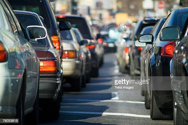 bumper to bumper traffic - traffic stock pictures, royalty-free photos & images