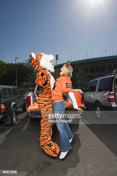 Bumping mascot couple