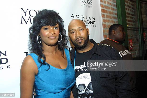 Bun B aka Bernard Freeman and his wife Queenie attend the Thank God I'm Famous party hosted by Lil' Wayne Ludacris and Young Jeezy during NBA AllStar...