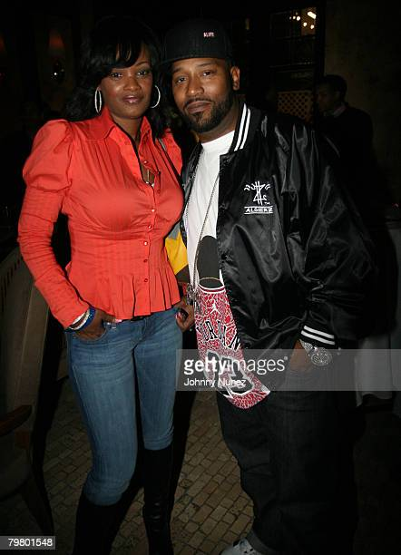 Bun B and guest attend the 2008 NBA AllStar in New Orleans ESPN The Magazine's Chicken `N' Waffles event at Harrah's Hotel February 16 2008 in New...