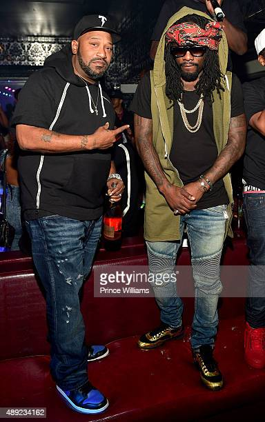 Bun B and Scarface attend 2 Chainz Birthday Celebration at Compound on September 14 2015 in Atlanta Georgia