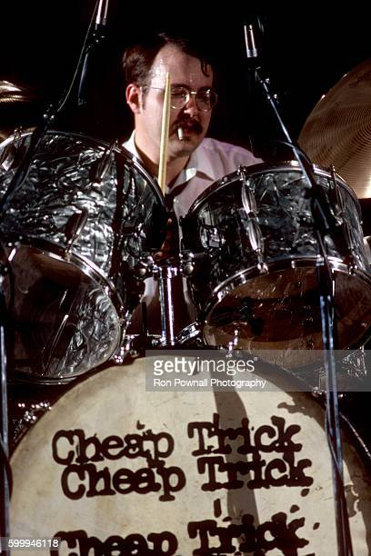 Bun E Carlos of the Rock group Cheap Trick performs at The Paradise on June 9 1978 in Boston Massachusetts