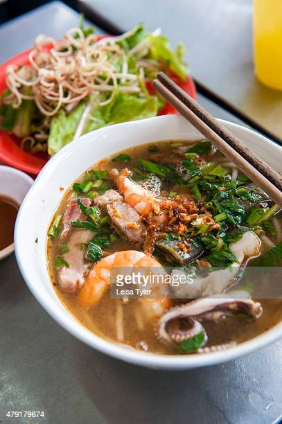 Bun Mam a fermented fish soup and southern Vietnamese delicacy at Bun Mam Dac San in Saigon