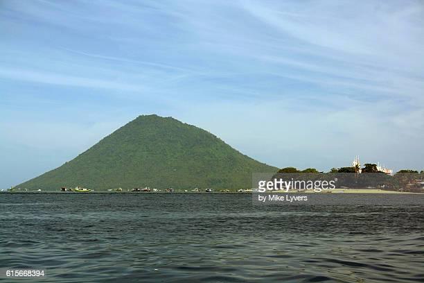 Bunaken Island and Manado Tua Volcano