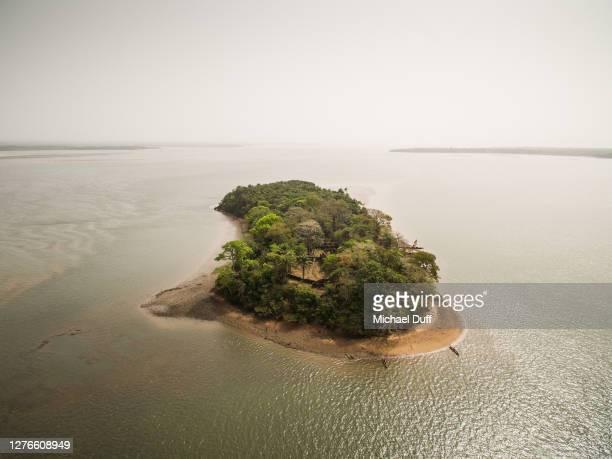 bunce island, sierra leone - aerial image - シエラレオネ ストックフォトと画像