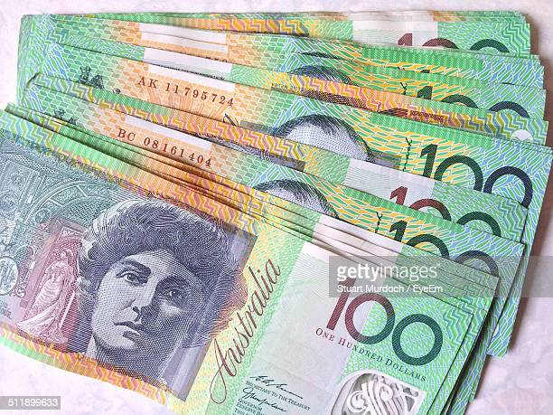 Bunch Of Australian Hundred Dollar Bills