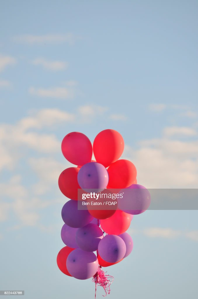 Bunch of balloons floating in the sky : Stock Photo