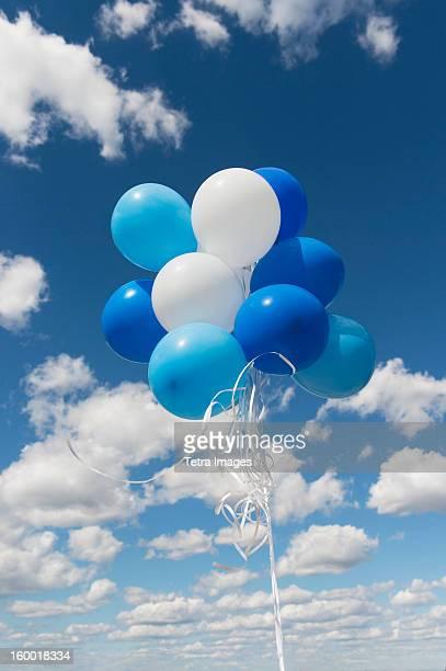 Bunch of balloons in sky