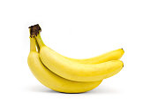 bunch bananas isolated white background