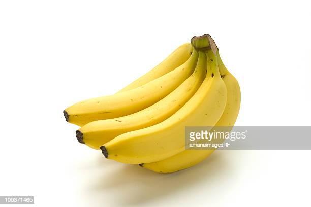 Bunch of bananas, white background