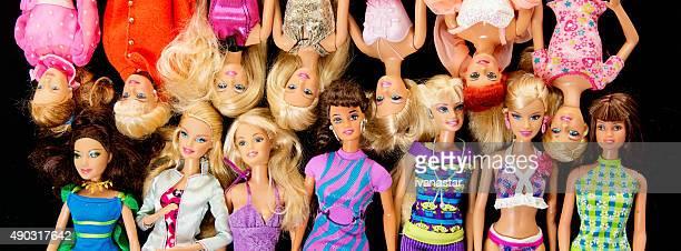 Paar Barbie Fashon Puppen Banner