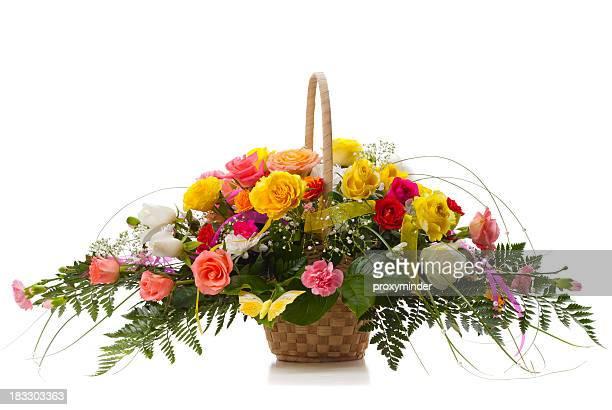 mazzo di fiori - composizione di fiori foto e immagini stock