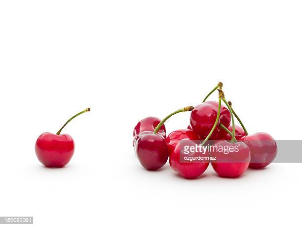 Bunch of fresh cherries
