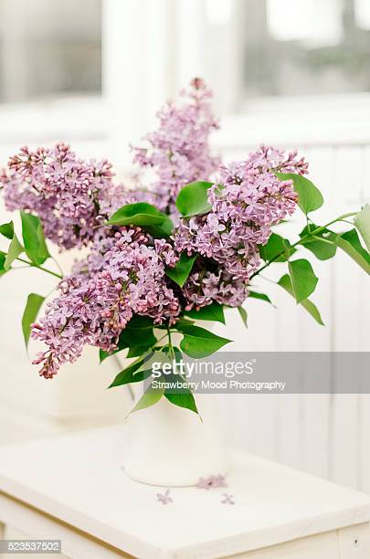 A bunch of fresh lilac at home