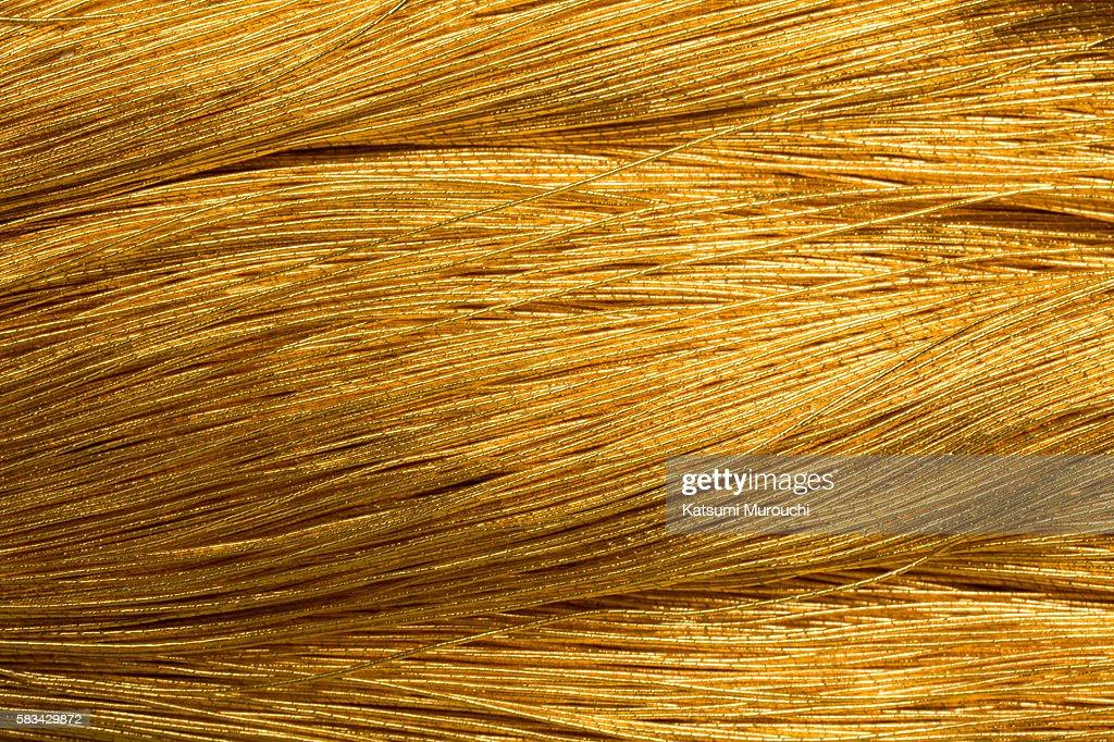 Bunch of golden thread : Stock Photo